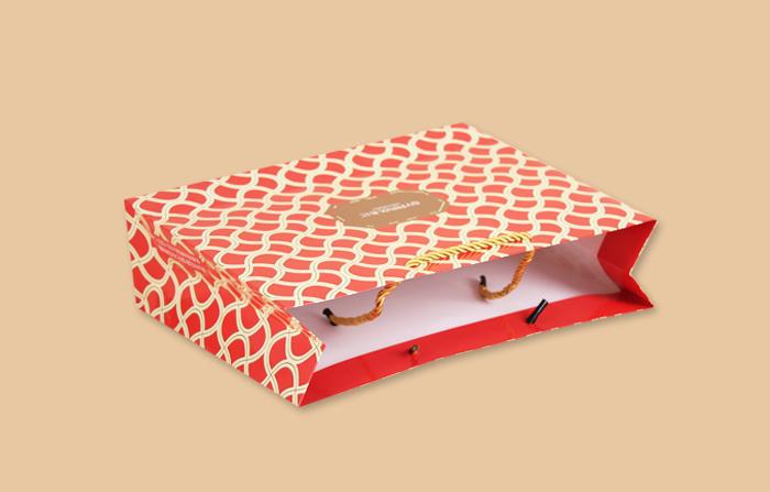 化妆品纸袋铜版纸袋_曲光包装