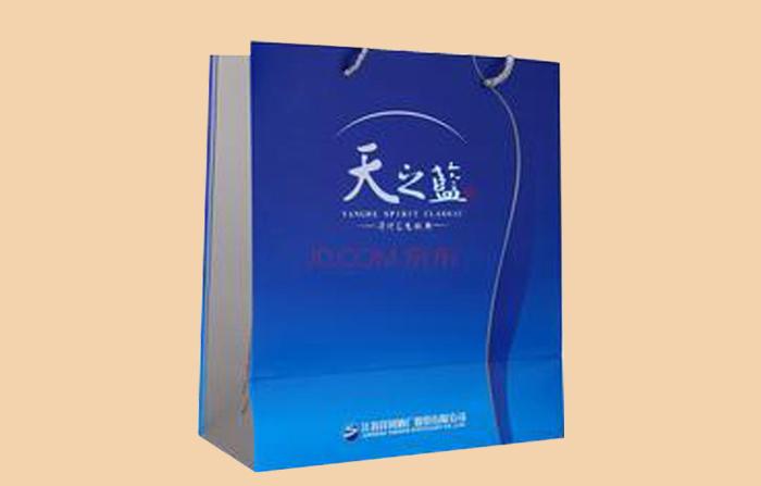 天之蓝白酒纸袋