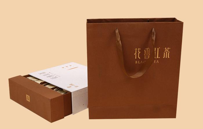 花香红茶茶叶纸袋