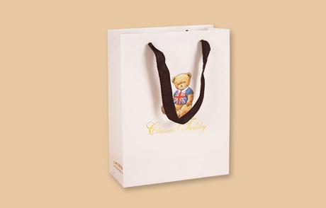 小熊图案礼品纸袋印刷