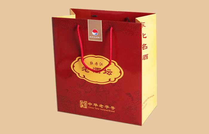 牡丹江白酒纸袋